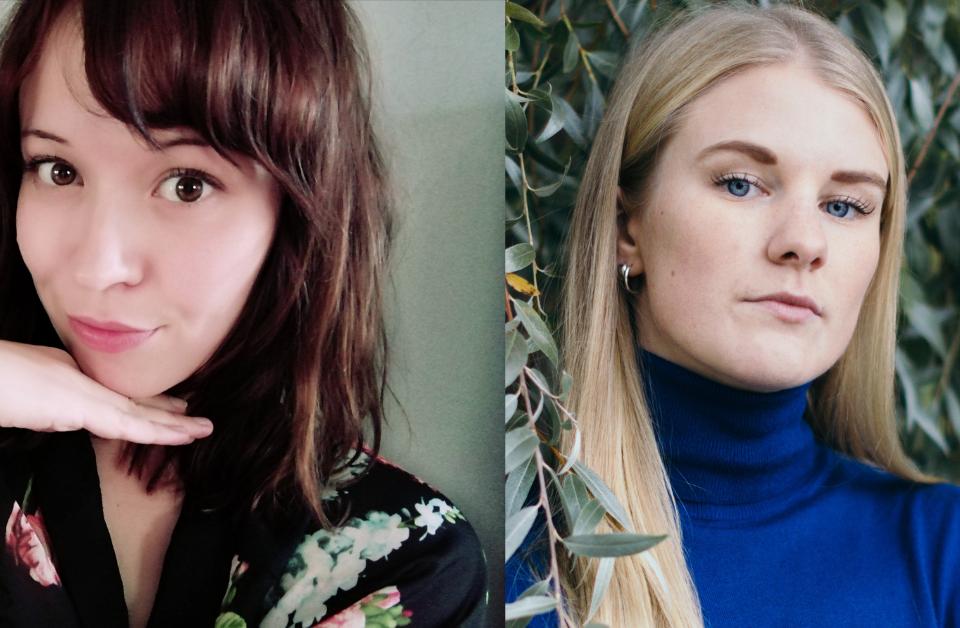 Julia Mäkkylä och Hanna Ylöstalo.