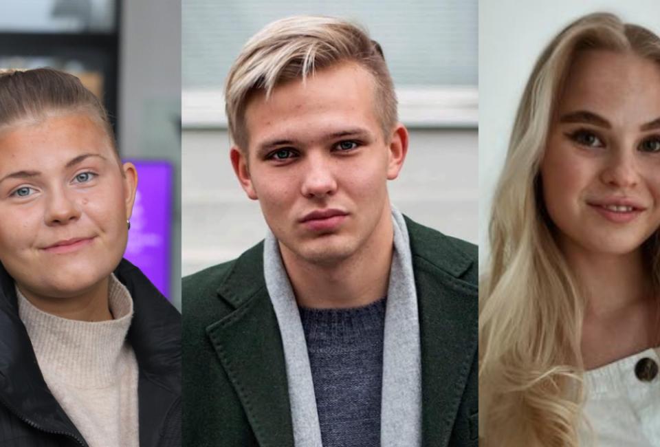 Emilia Tallberg, Theo Granfors och Linnea Backholm.